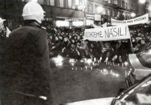 Narodni gaden i Prag 17.11.1989